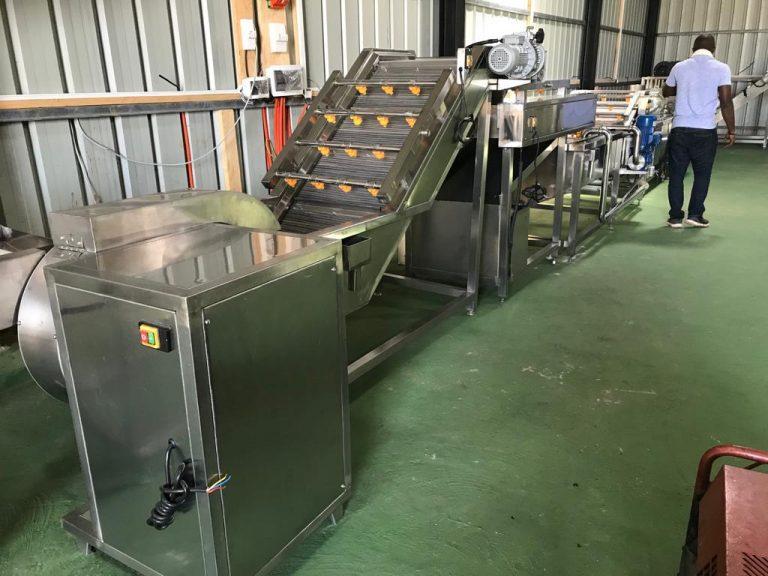 Frozen chips processing plant, Futa Jalon, Guinea, Mar 2019