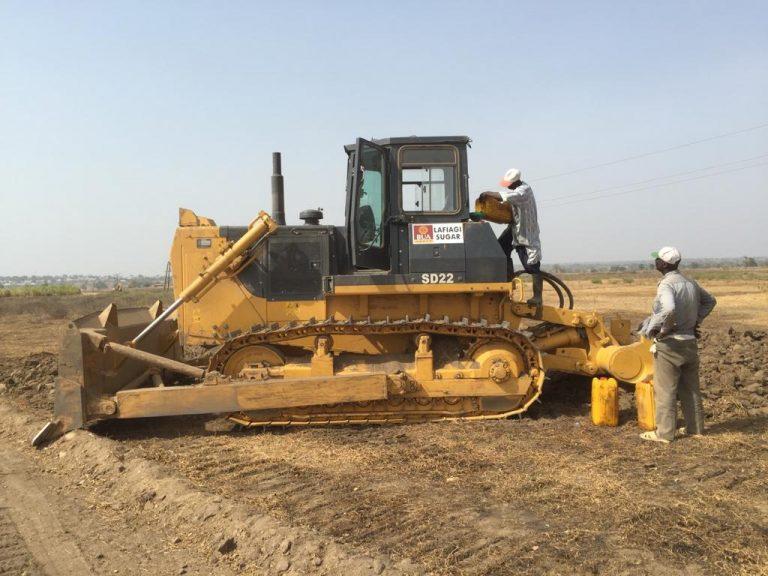 Land preparation at Lafiagi Sugar project, Kwara State, Nigeria, Feb 2016